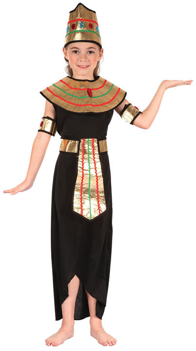 Kids Queen Of The Nile Cleopatra Girls Book Week Fancy Dress Childs Costume Thumbnail 2