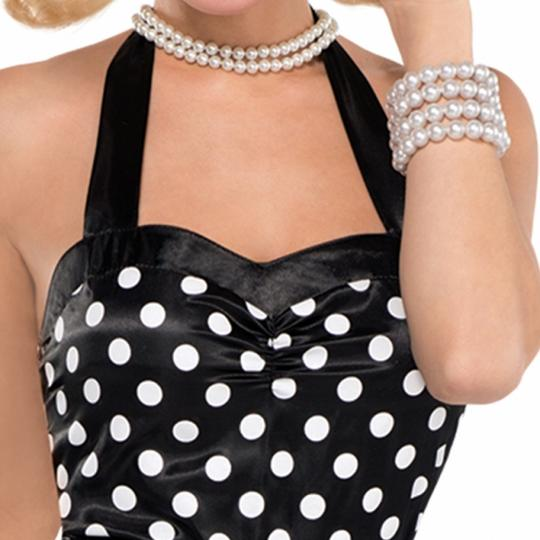 Ladies 50s Twist and Shout Fancy Dress Costume Thumbnail 2