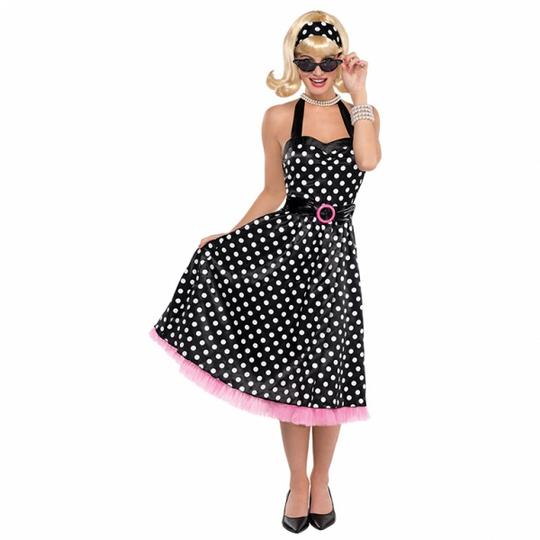 Ladies 50s Twist and Shout Fancy Dress Costume Thumbnail 1
