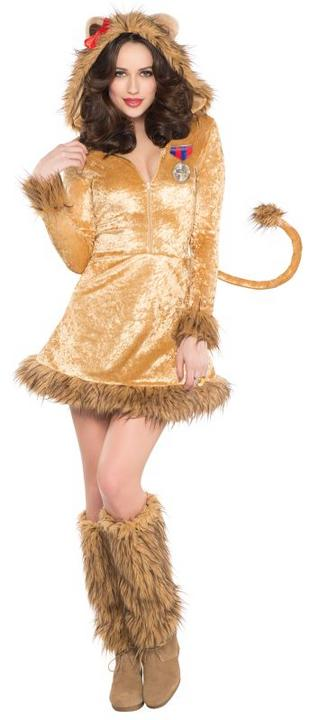 Ladies Wild Lioness Fancy Dress Costume  Thumbnail 1