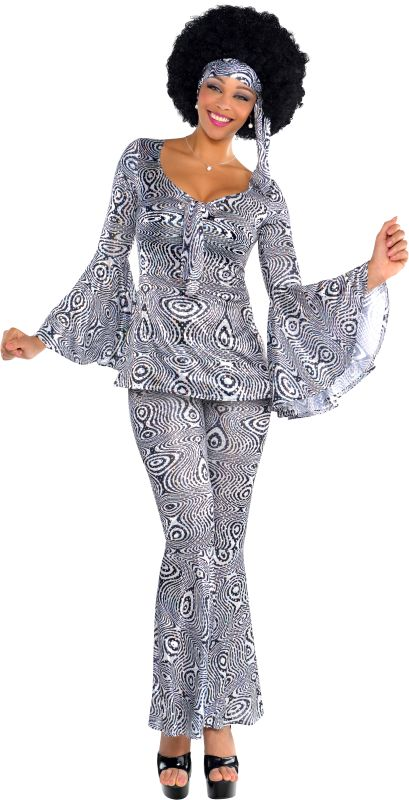 Ladies Dancing Queen 70s Fancy Dress Costume