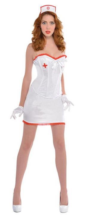 Women's Sexy Nurse Fancy Dress Costume  Thumbnail 1