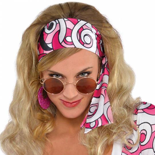 1960s 1970s Disco Diva Hippy Hippie Costume Womens Fancy Dress Ladies Outfit Thumbnail 2