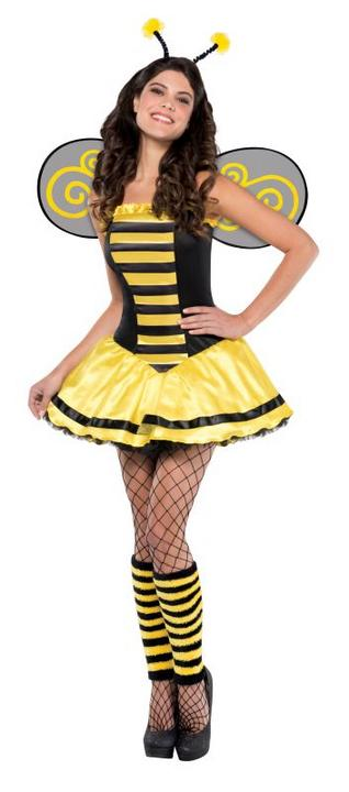 Women's Bumble Bee Fancy Dress Costume  Thumbnail 1