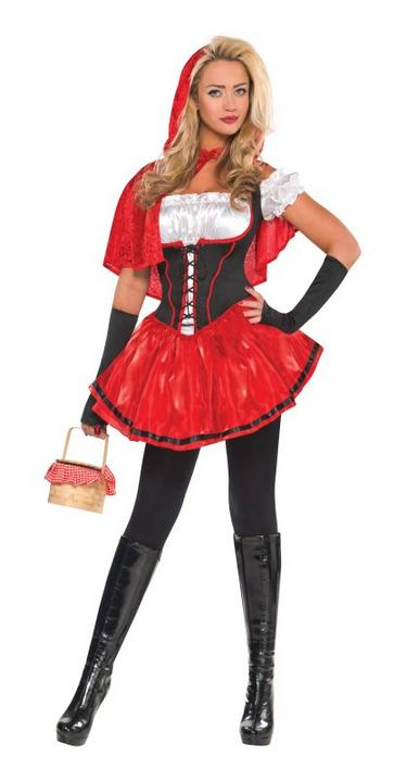 Women's Red Riding Hood Fancy Dress Costume  Thumbnail 1