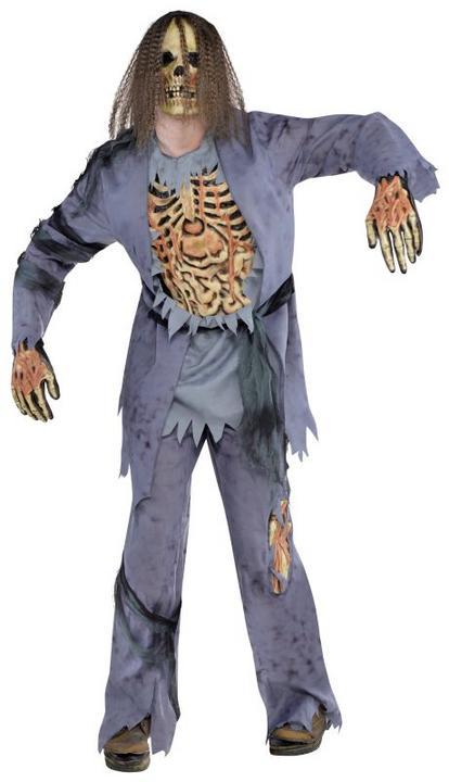 SALE! Adult Walking Dead Zombie Corpse Mens Halloween Horror Fancy Dress Costume Thumbnail 1