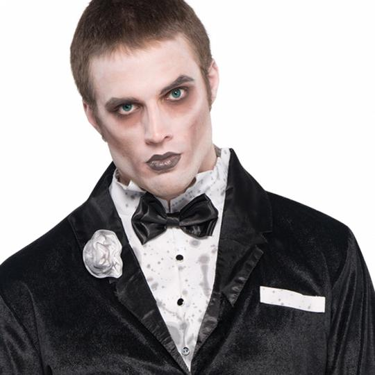 Adult Walking Dead Zombie Groom Mens Halloween Horror Fancy Dress Costume Outfit Thumbnail 4