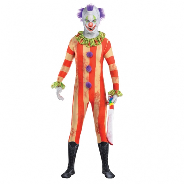 Mens Clown PartySuit  Fancy Dress Costume