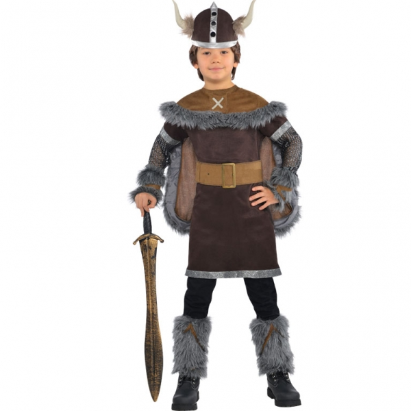 Kids Medieval Viking Warrior Boys Book Week Fancy Dress Childs Costume Outfit