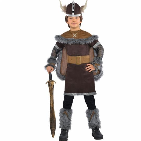 Kids Medieval Viking Warrior Boys Book Week Fancy Dress Childs Costume Outfit Thumbnail 1