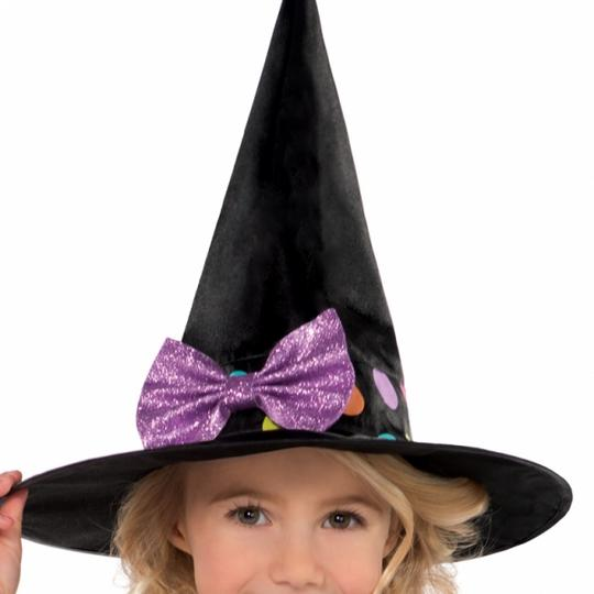 Girls Halloween Miss Matched Witch Fancy Dress Costume  Thumbnail 3