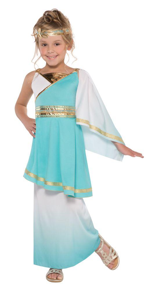 Girls Venus Goddess Greek Costume Kids School Book Week Fancy Dress outift
