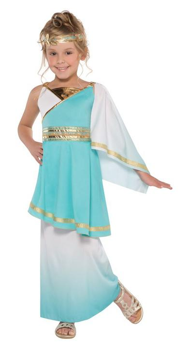 Girls Venus Goddess Greek Costume Kids School Book Week Fancy Dress outift Thumbnail 1