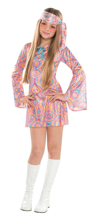 Girls Teen Disco Diva Fancy Dress Costume Thumbnail 1