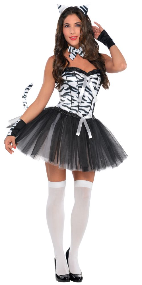 Zebra Ladies Fancy Dress Hen Party Costume Outfit SALE Adult Sexy Animal