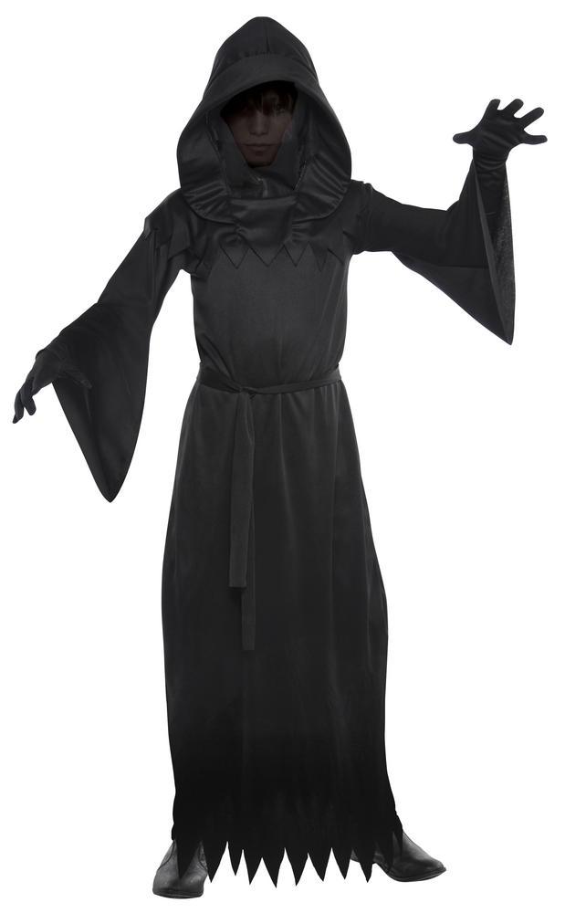 Teen Grim Phantom Of Darkness Reaper Boys Halloween Fancy Dress Costume Outfit