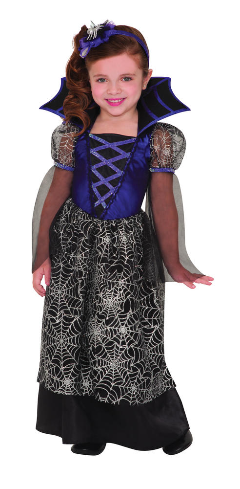 Kids Miss Wicked Web Witch Girls Halloween Fancy Dress Childs Costume Outfit