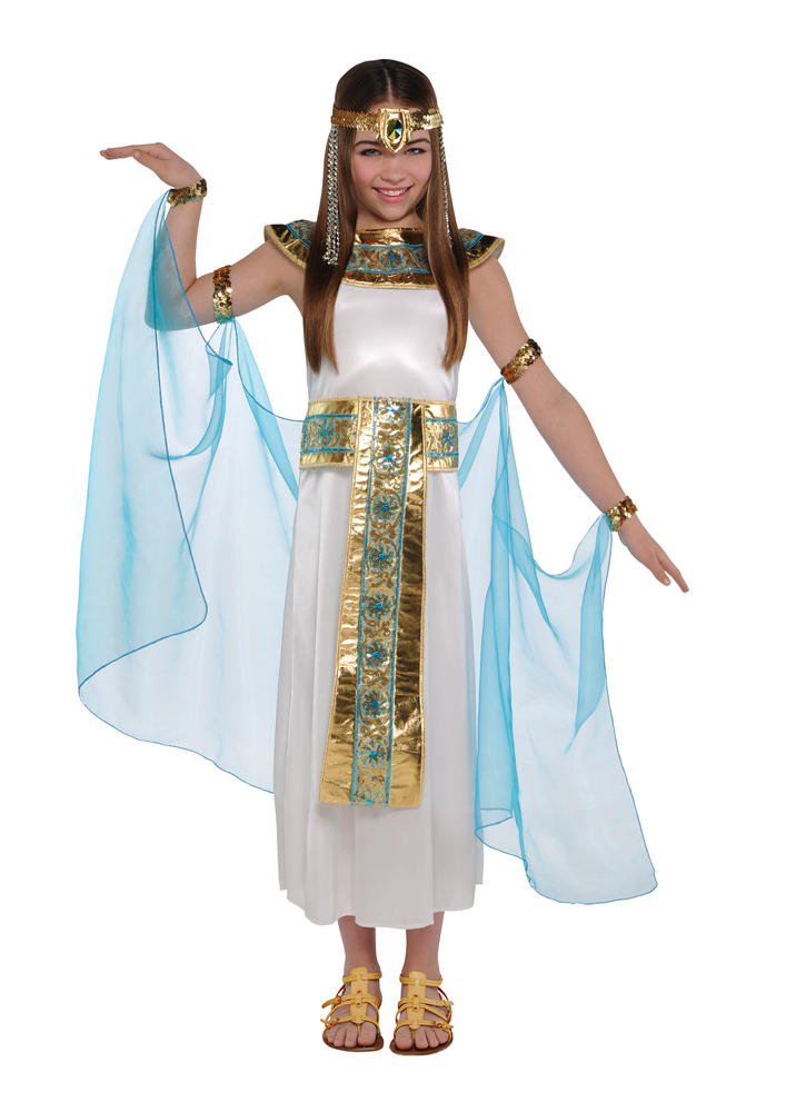 SALE! Kids Egyptian Queen Of The Nile Cleopatra Girls Fancy Dress Childs Costume