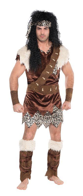 Mens Neanderthal Caveman Fancy Dress Costume
