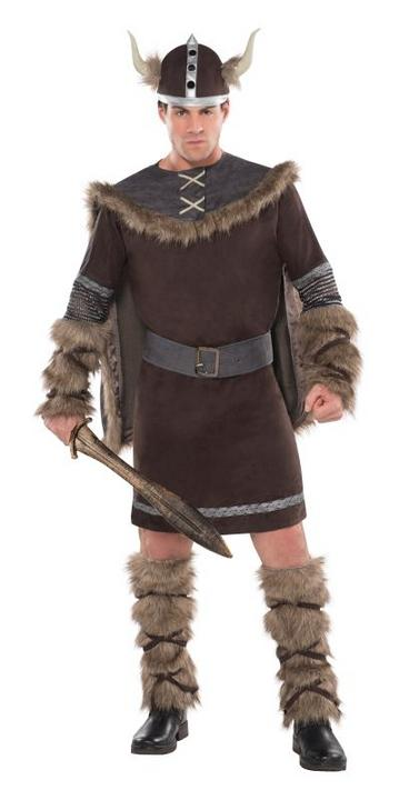 Mens Viking Warrior Fancy Dress Costume  Thumbnail 1