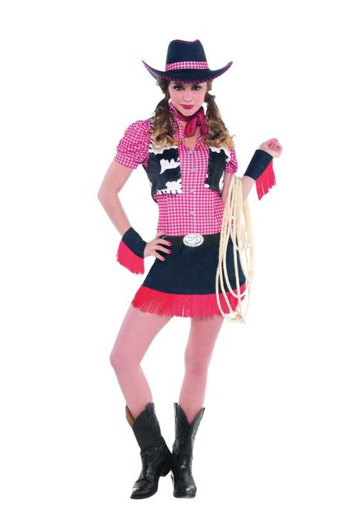 Women's Rawhide Cowgirl Fancy Dress Costume  Thumbnail 1