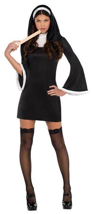 Women's Blessed Babe Nun Fancy Dress Costume  Thumbnail 1