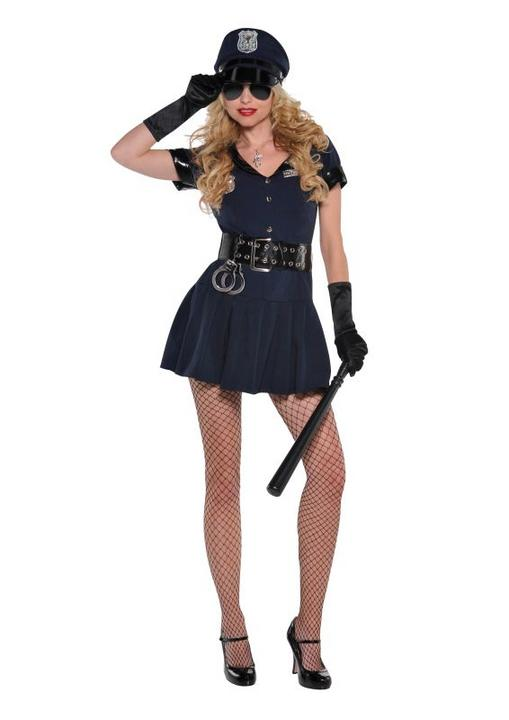 Policewoman Police officer WPC cop Womens Costume Ladies Fancy Dress outfit hen  Thumbnail 1