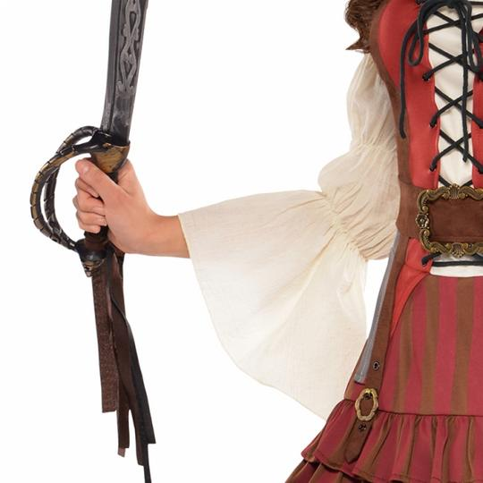 Women's Castaway Pirate Fancy Dress Costume  Thumbnail 2