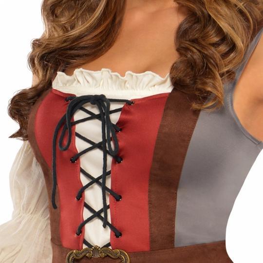 Women's Castaway Pirate Fancy Dress Costume  Thumbnail 3