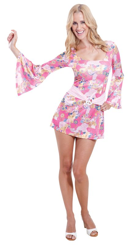Women's  60s Chick Fancy Dress Costume
