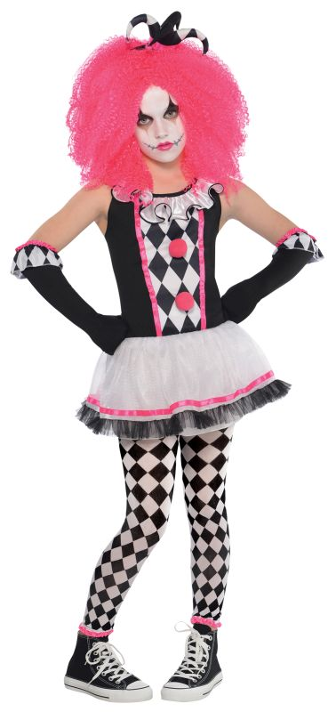 Girls Circus Sweetie Clown Fancy Dress Costume