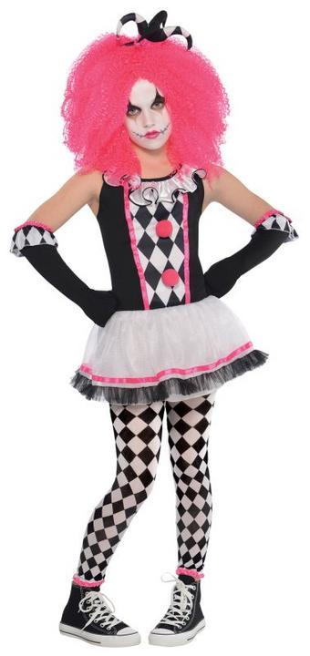 Girls Circus Sweetie Clown Fancy Dress Costume Thumbnail 1