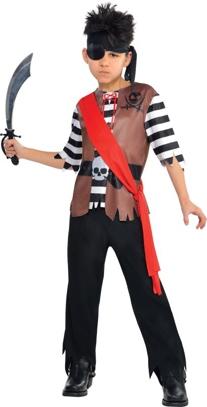 Boys Ahoy Captain Pirate Fancy Dress Costume