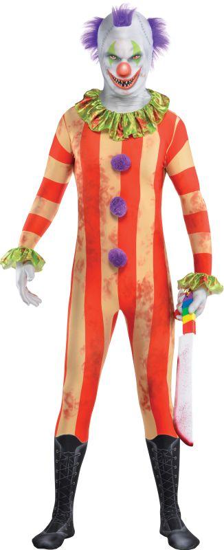 Boys Clown Party Suit Fancy Dress Costume