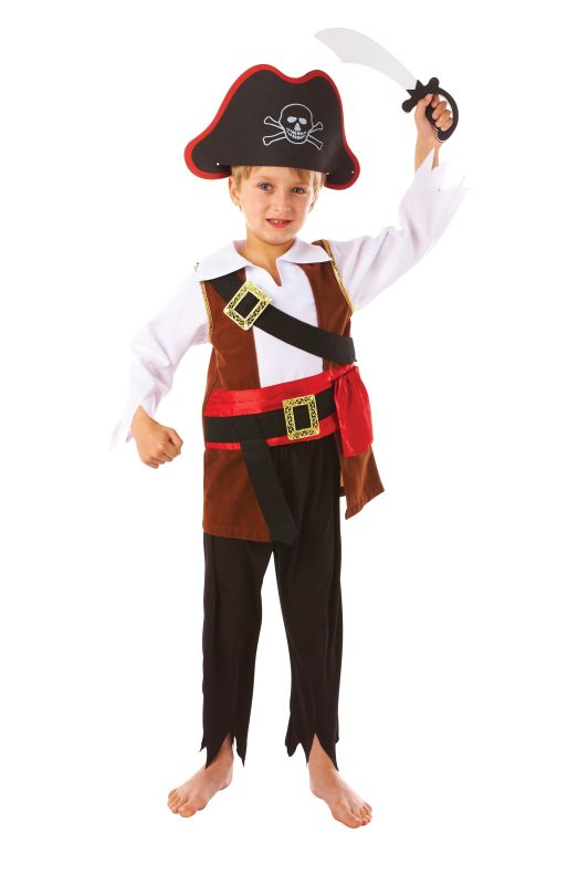Boys Treasure Pirate Fancy Dress Costume