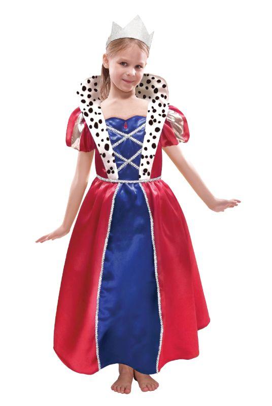 Girls Queen Fancy Dress Costume