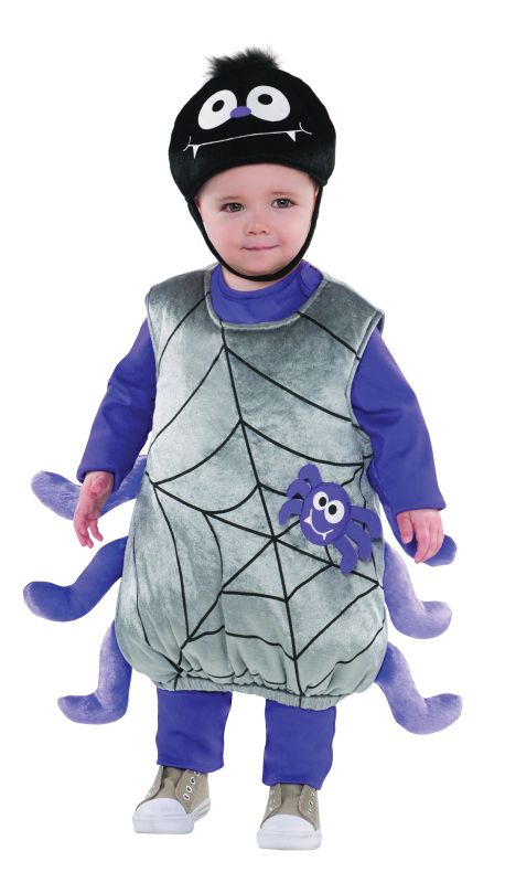 Toddlers Halloween Spider Costume Kids school book week Fancy Dress story Outfit