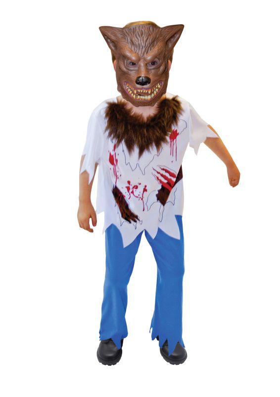 SALE Kids Werewolf Boys Halloween Horror Fancy Dress Childs Costume Party Outfit