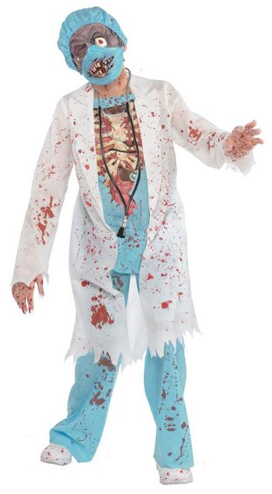 SALE Kids Zombie Surgeon Doctor Boys Halloween Fancy Dress Childs Costume Outfit Thumbnail 1