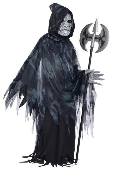 SALE! Kids Evil Reaper Soul Taker Boys Halloween Fancy Dress Kids Costume Outfit Thumbnail 1