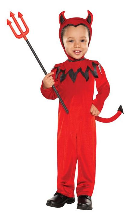 SALE Kids Cute Red Devil Boys Halloween Fancy Party Dress Toddler Costume Outfit Thumbnail 1