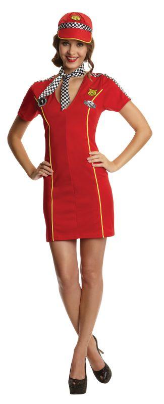 Women's Racing Girl Fancy Dress Costume