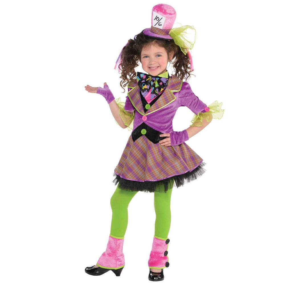 Girls Mad Hatter Fancy Dress Costume