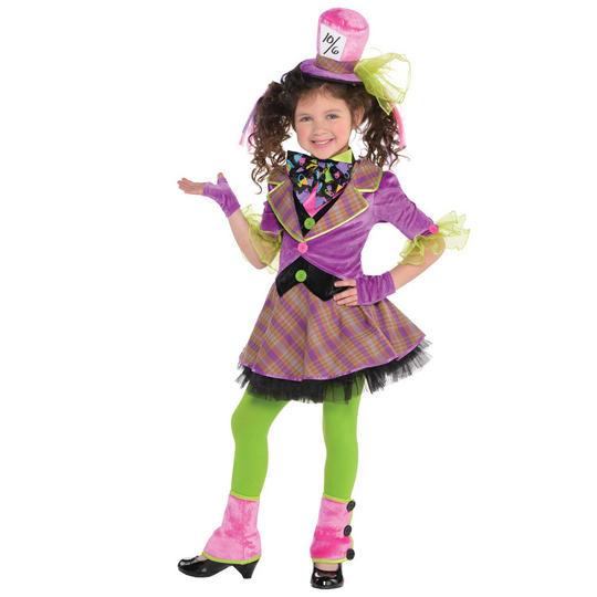 Girls Mad Hatter Fancy Dress Costume  Thumbnail 1