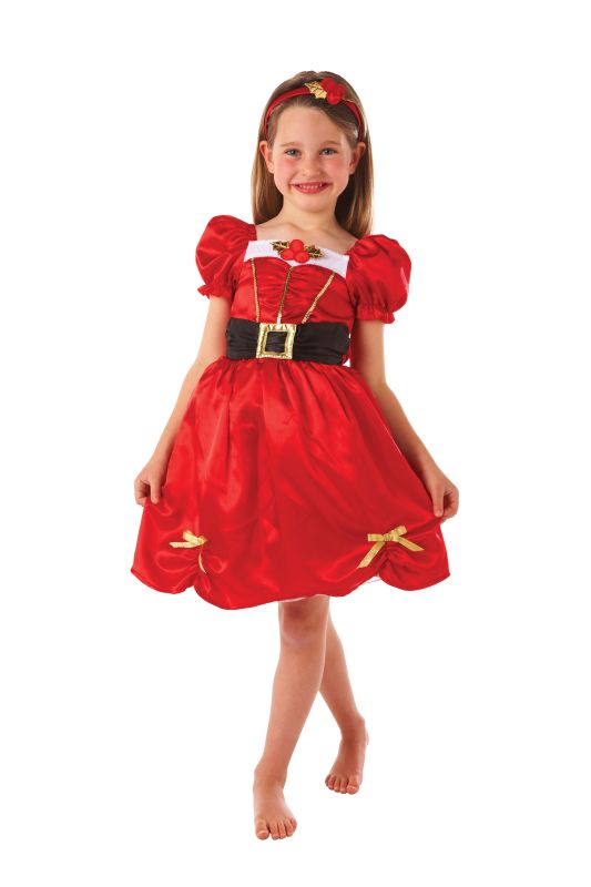 Girls Miss Santa Fancy Dress Costume