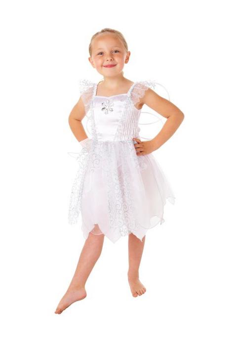 Girls White Fairy costume  Thumbnail 1