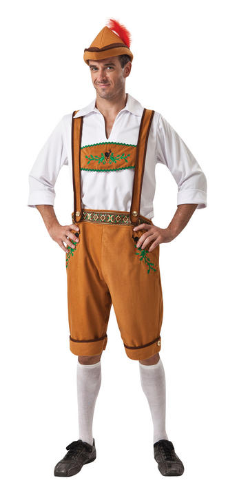 Mens German Country Fancy Dress Costume  Thumbnail 1