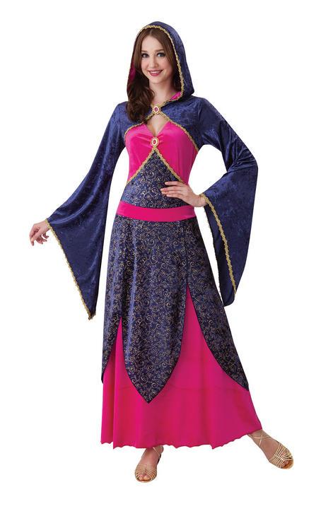 Beautiful Fairy Tale Princess Ladies Fancy Dress Costume Outfit UK Size 10 - 14 Thumbnail 1