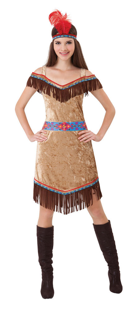Indian Ladies Wild West Fancy Dress Costume Hen Party Outfit Deluxe Sexy