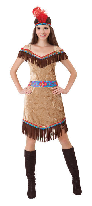 Indian Ladies Wild West Fancy Dress Costume Hen Party Outfit Deluxe Sexy Thumbnail 1
